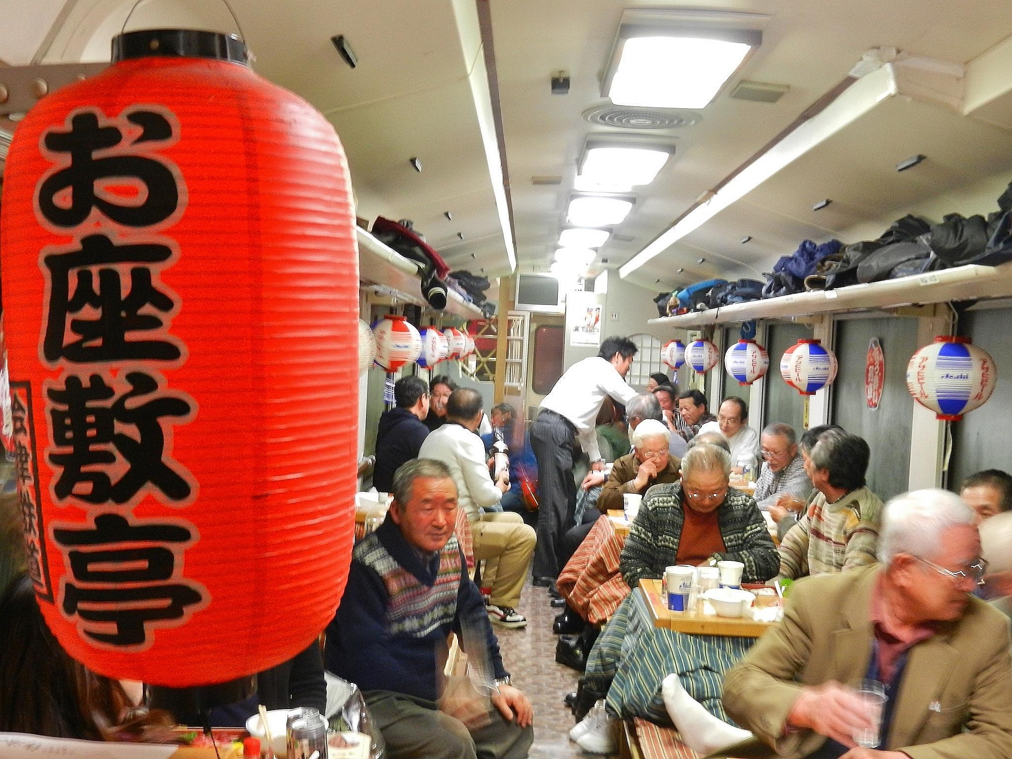会津鉄道 ほろ酔い列車写真