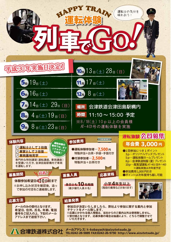 HAPPY TRAIN 運転体験 列車でGO!(テスト2)写真