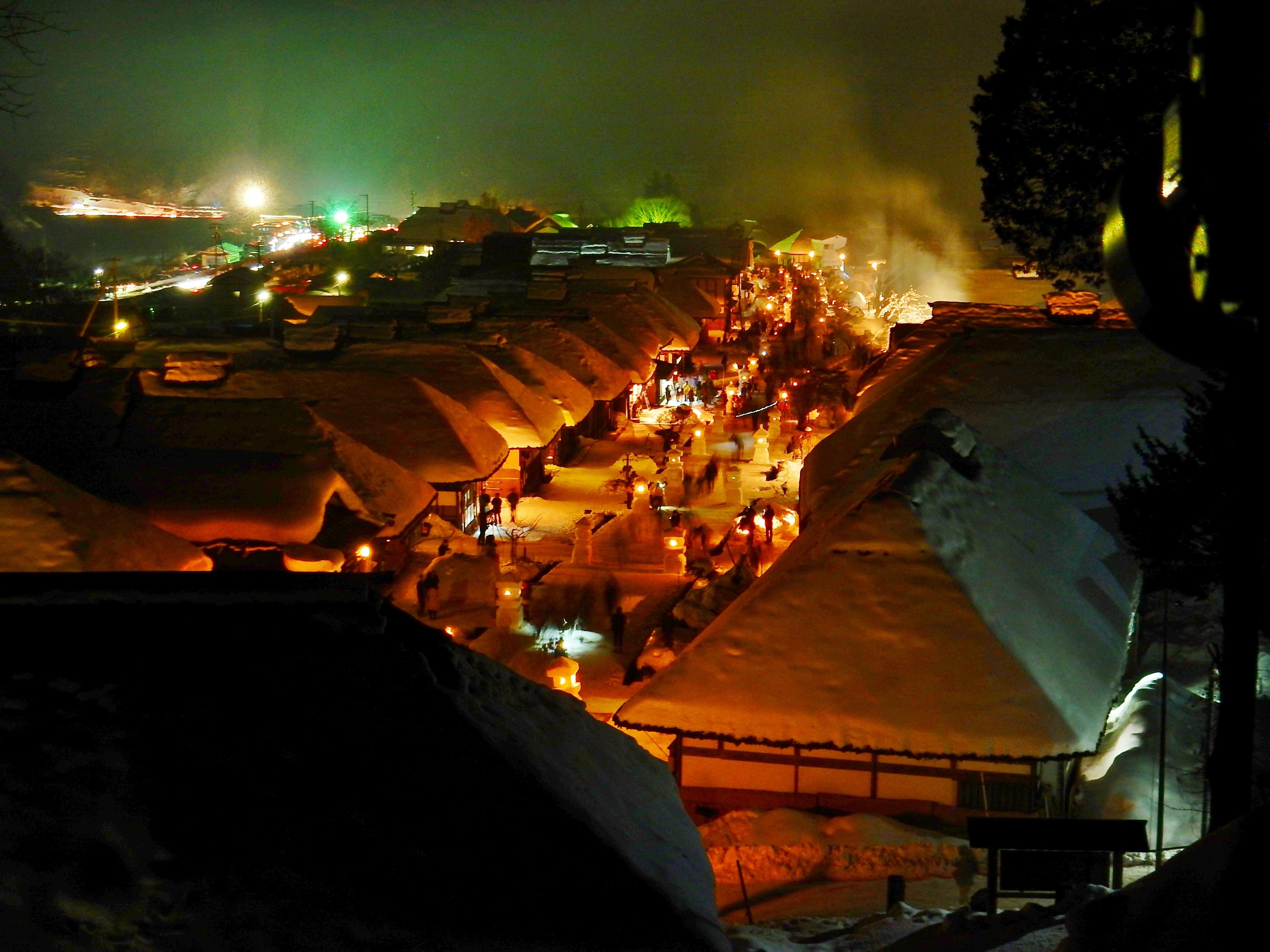 大内宿雪まつり写真