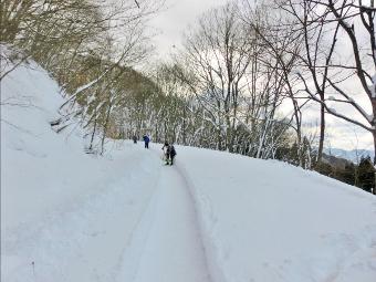 日本一長い雪の滑り台