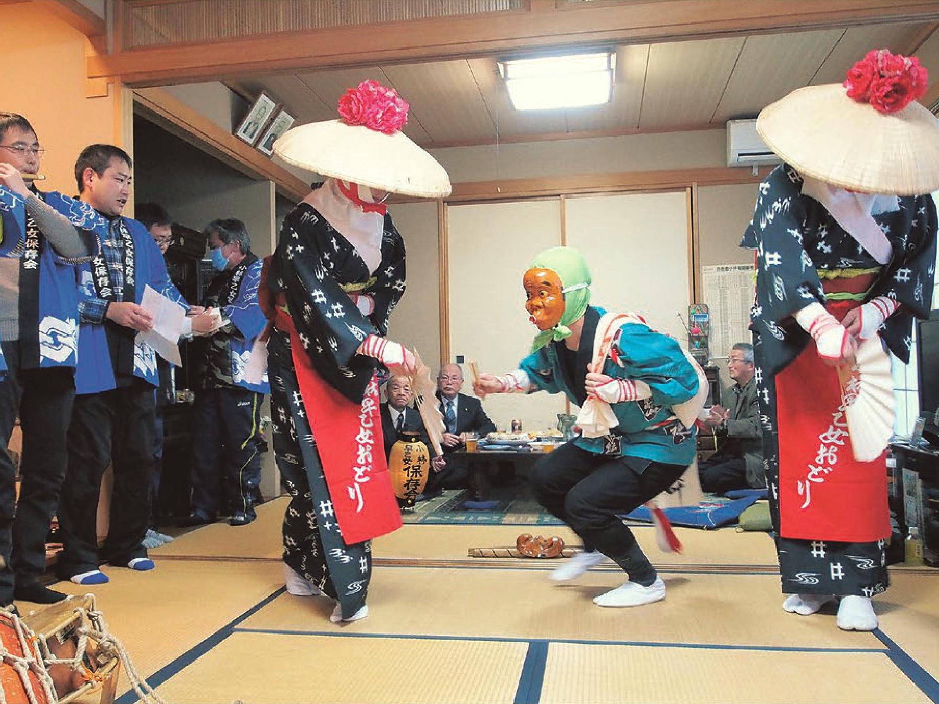 只見町ブナセンター講座「小林早乙女踊りの歴史と民族」写真
